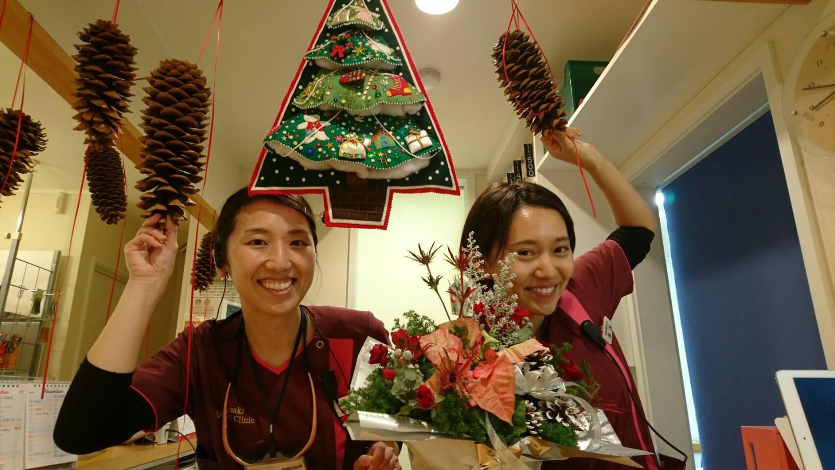 クリスマスの飾りつけをしました☆